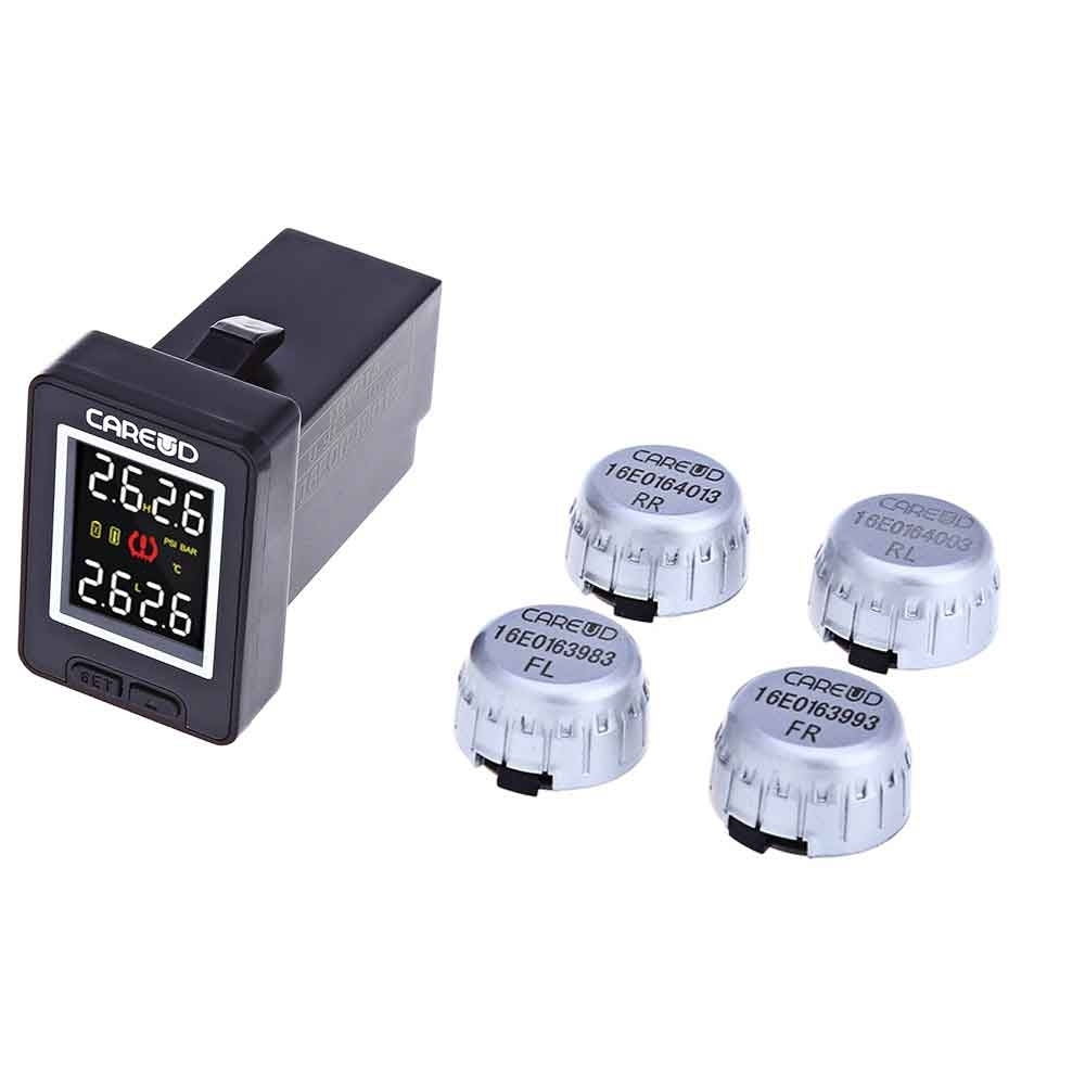 CAREUD U912 4 External Sensors Car Tire Pressure Monitoring System Car TPMS With PSI BAR Diagnostic Tool for Toyota цена