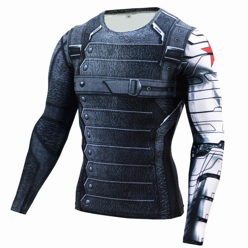 2017 brand men marvel superhero t shirt winter soldier long sleeve t shirts fitness spiderman spiderman black panther top tees-0