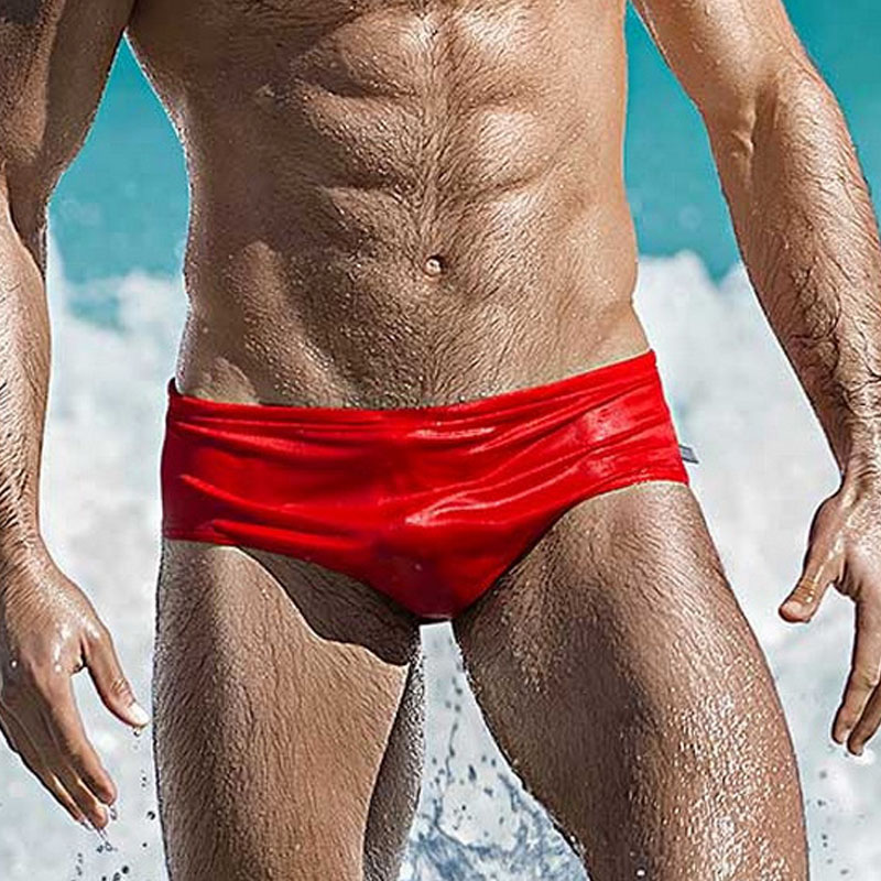 Men Swim Trunks Swimsuit Swimwear Sexy Low Rise Solid Briefs Bikini Beach Board Shorts Bathing Suit wear EU Size S-XL