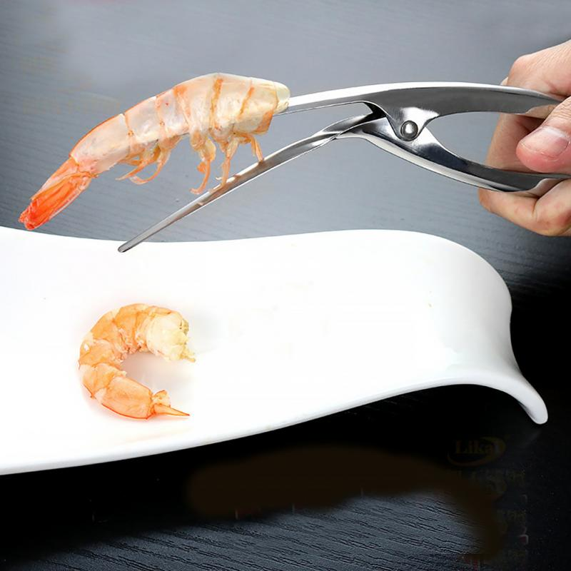 1x HOT Stainless Steel Prawn Peeler Shrimp Deveiner Peel Creative Kitchen Tools