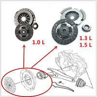 Car clutch kit for Geely LC ,Geely GX2,Geely Emgrand XPandino
