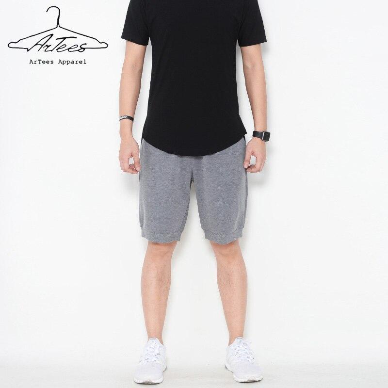 Hommes Shorts décontractés 2017 nouveaux t-shirts marque été mince Flexible confortable imprimé coton lâche court grande taille costume décontracté court