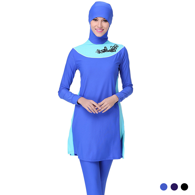 ФОТО Make Difference Modest Swimsuit for Muslim Women Muslim Swimwear Hajib Islamic Swimsuit Plus Size Girls Women Swimwear Burkinis