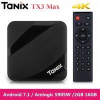 Tanix TX3 Max TV Box android 7.1 Quad Core 4K Amlogic S905W 2GB 16GB Bluetooth Set top Box HDMI Smart Media Player Upon TX3 Mini