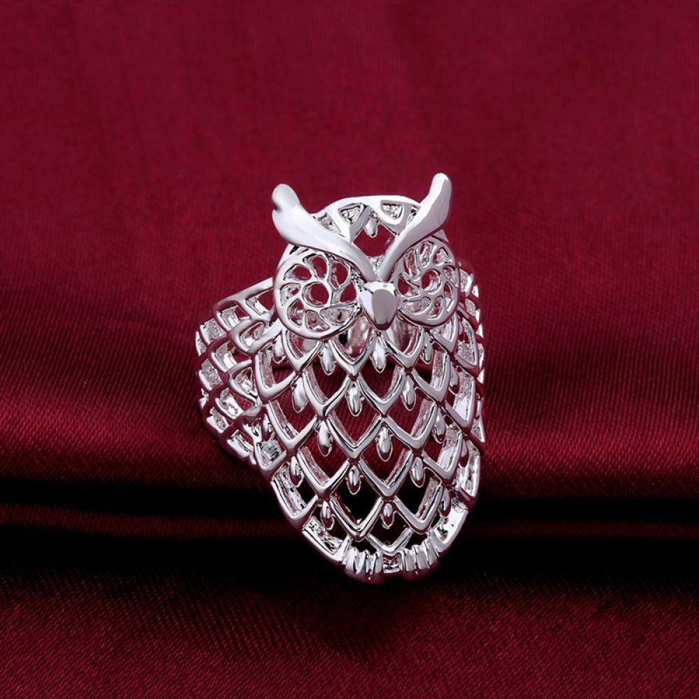 owl wedding ring Sterling Silver Owl Wedding Band Celtic Owl Ring Mens Wedding Band Irish Wedding Ring Owl Jewelry Celtic Knot Ring Custom Size CR