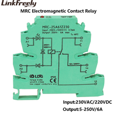 MRC-25A61Z230 230VAC/220VDC Mini Electromagnetic Contact LED Relay Interface Din 6A 250VAC/DC Output Voltage Control Board