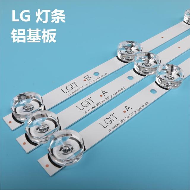 "3pcs x TV LED Strips 6 lamps for LG 32""TV 32MB25VQ 6916l 1974A 1975A 1981A lv320DUE 32LF5800 32LB5610 innotek drt 3.0 32"
