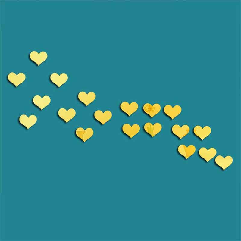 ᑐAcrílico amor etiqueta de la pared chica corazón decoración ...