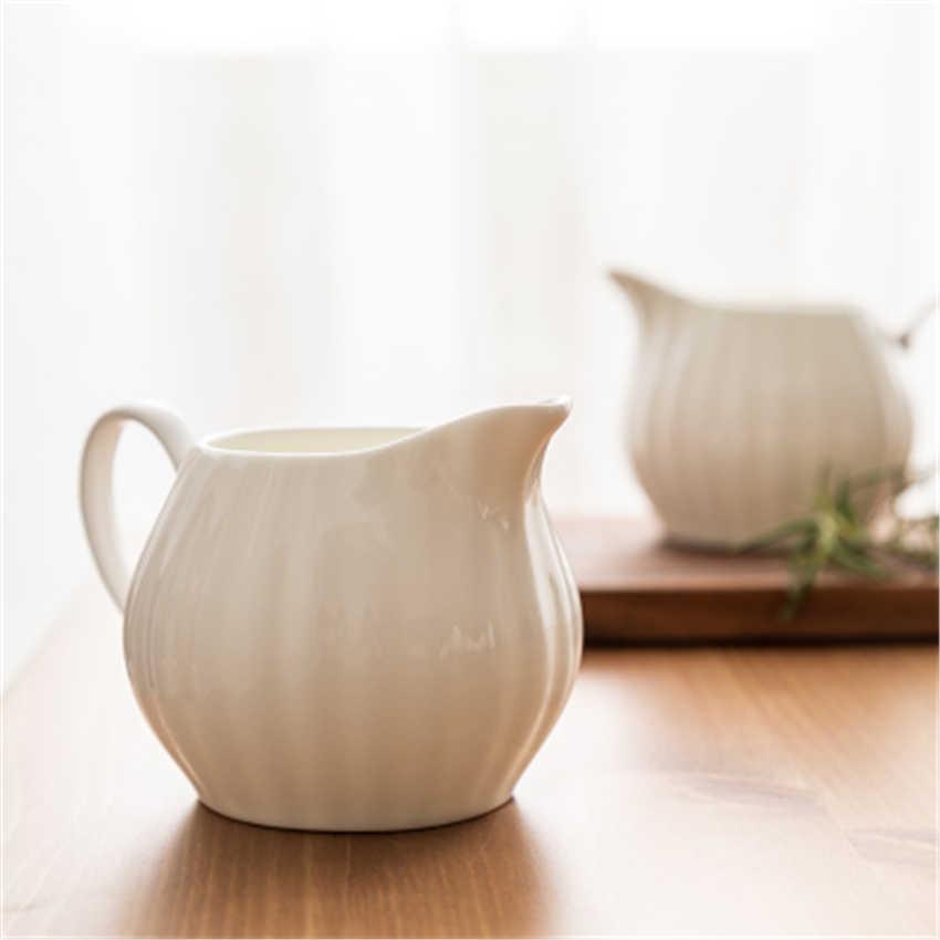 Keramik Kendi Susu Tip Cangkir Kopi Susu Cangkir Kecil Teh Susu Susu Jug SHARP Eagle Mulut Berbusa Pot Kontainer Kopi coffeeware