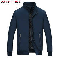 MANTLCONX 2019 New Autumn Casual Brand Mens Jackets and Coats Stand Collar Zipper Male Outerwear Men Jacket Black Men's Clothing