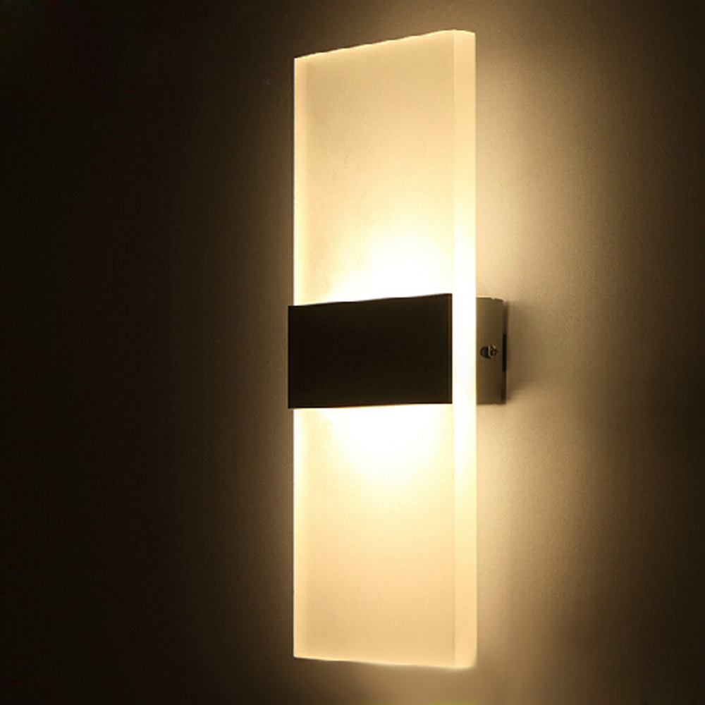 Light Wall Sconce White Black Modern Led Wall Lamp For