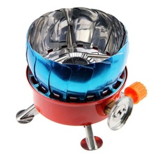 Portable Windproof Stove Gas Burner Cooker Outdoor Cookware for Camping Hiking Picnic Cookout BBQ Supplies