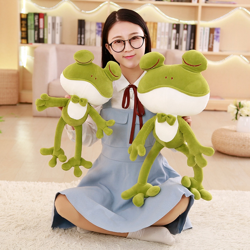 1pc 50cm Cute Plush Frog Toys Soft Stuffed Down Cotton Frog Prince Toys Cartoon Plush Animals Children Gifts