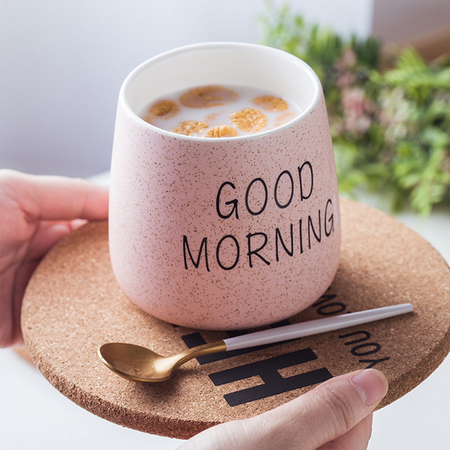 Aliexpresscom Buy Muzity Ceramic Milk Mugs Good Morning Porcelain