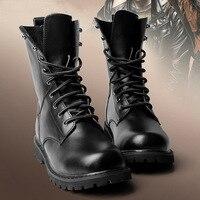 2016 الشتاء المرأة الكاحل أحذية الموضة جلد طبيعي للجنسين الدانتيل يصل للدراجات النارية أحذية زائد حجم الاتحاد الأوروبي 35-48 الأحذية العسكرية