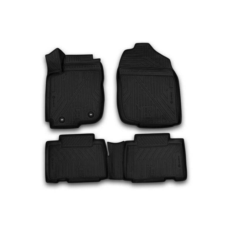 Car Mats 3D salon For TOYOTA Rav 4, 2013-2015, 2015-> 4 PCs (polyurethane) коврики салона rival для toyota rav4 2013 2015 2015 н в резина 65706001