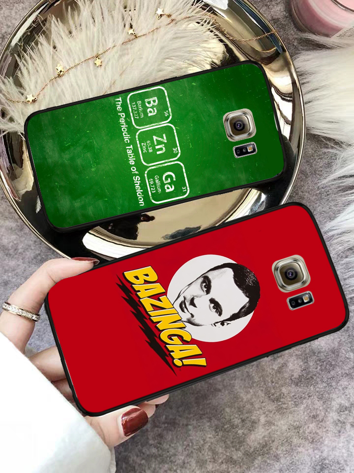 Lavaza Bazinga The Big Bang Theory TV Silicone Case for Samsung S6 Edge S7 S8 Plus S9 S10 S10e Note 8 9 10 M10 M20 M30 M40 in Half wrapped Cases from Cellphones Telecommunications