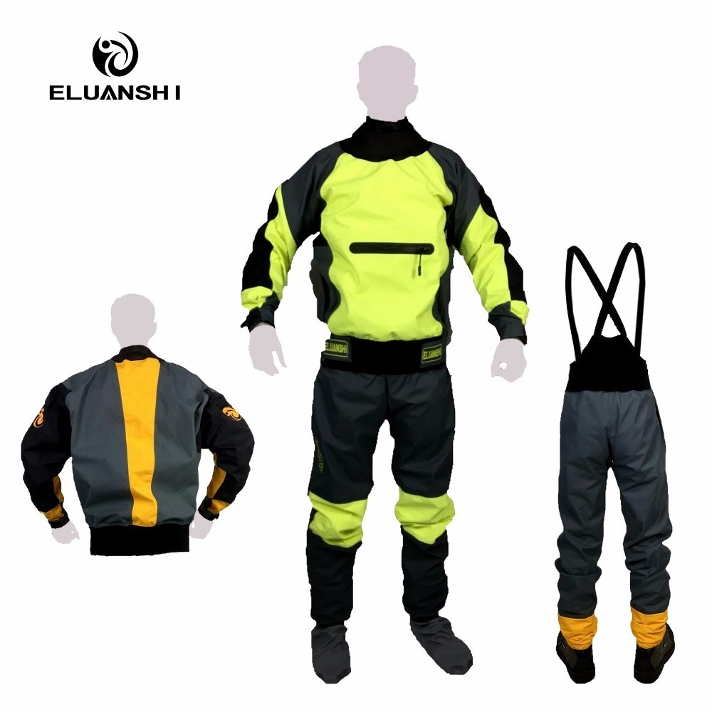 high quality Waterproof and breathable clothing for winter warm rowing fishing kayak rubber boat clothes water sports CE island kayak suit