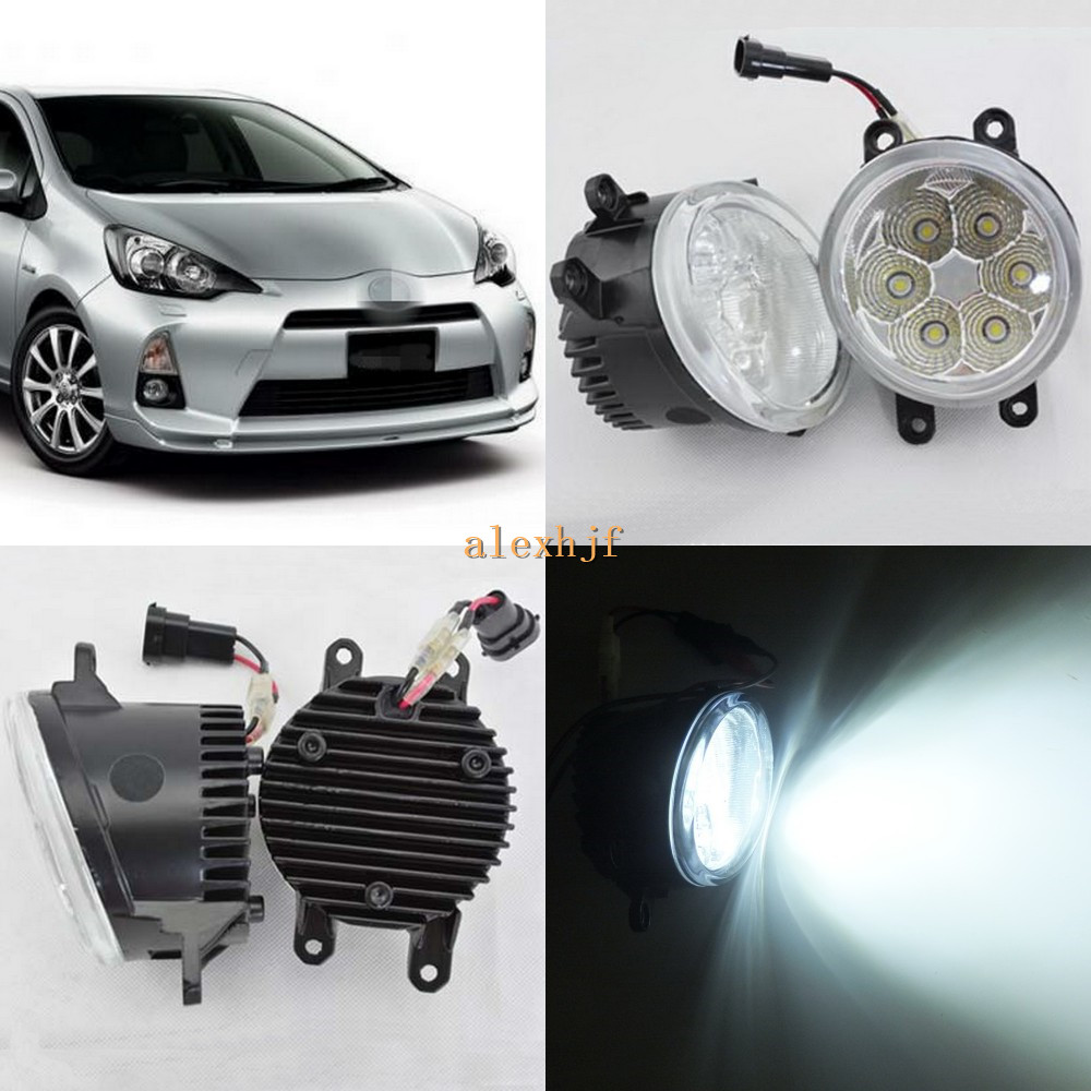 July King 18W 6500K 6LEDs LED Daytime Running Lights LED Fog Lamp case for Toyota Aqua 20012~ON, over 1260LM/pc july king 18w 6500k 6leds led daytime running lights led fog lamp case for peugeot 107 2012 2015 over 1260lm pc