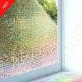 Многослойная лазерная 3D мозаика, рельефный эффект, витражная декоративная пленка для окон, статическая липкая пленка для конфиденциальнос...