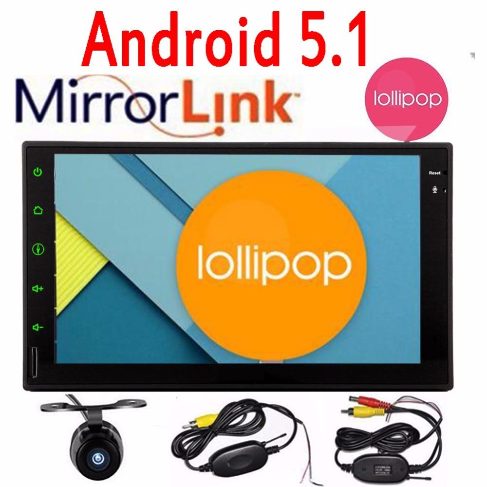 7″ Double 2 Din Android 5.1 Lollipop in dash Car Radio Quad Core HD Car GPS Navigator Head Unit Car PC with 2 din gps navigator