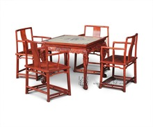 Living Room Recreation&Leisure Furniture Set Mahjong Table and Southern Mandarin Chair 5-pieces sets dual purpose China Rosewood