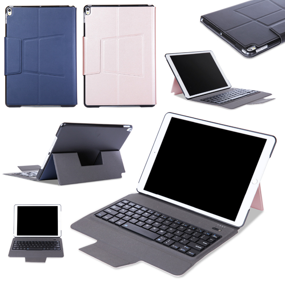 Ultra Thin Slim Wireless Bluetooth 3.0 Keyboard Dock Case Fold Stand PU Leather Smart Cover For Apple iPad Pro 10.5 10.5 Tablet universal 61 key bluetooth keyboard w pu leather case for 7 8 tablet pc black