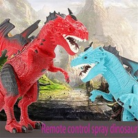 Kids Electronic RC Walking Dinosaur Animal Toys with Simulation Roaring Spraying Smoke Functions Funny Novelty Dinosaur Toy Gift