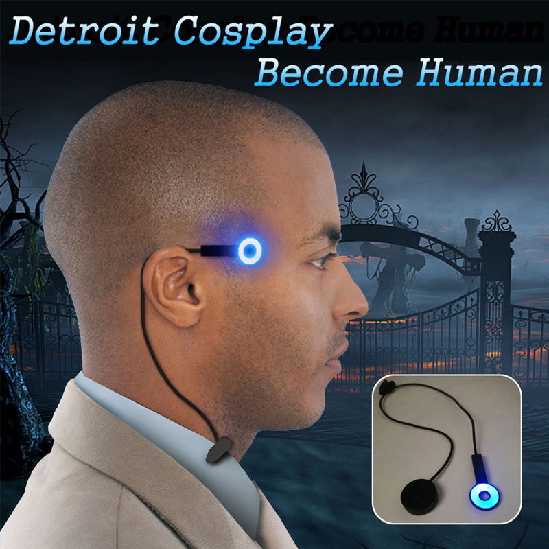 Detroit : Become Human Cosplay Connor Wireless Temple Led Light RK800 Halloween Party Status Light Costume Props