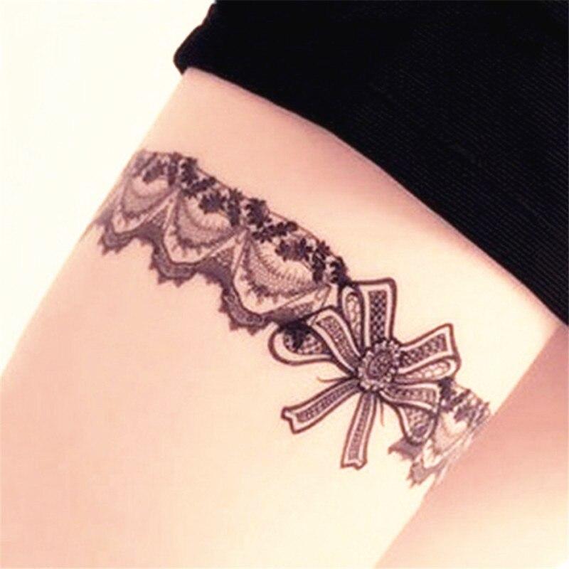 Us 119 40 Off2 Stkspartij Tattoo Vrouwen Kant Waterdichte Tijdelijke Tattoo Arm Kousen Oversleeves Fake Mouwen Body Art Beauty Tattoo Nep