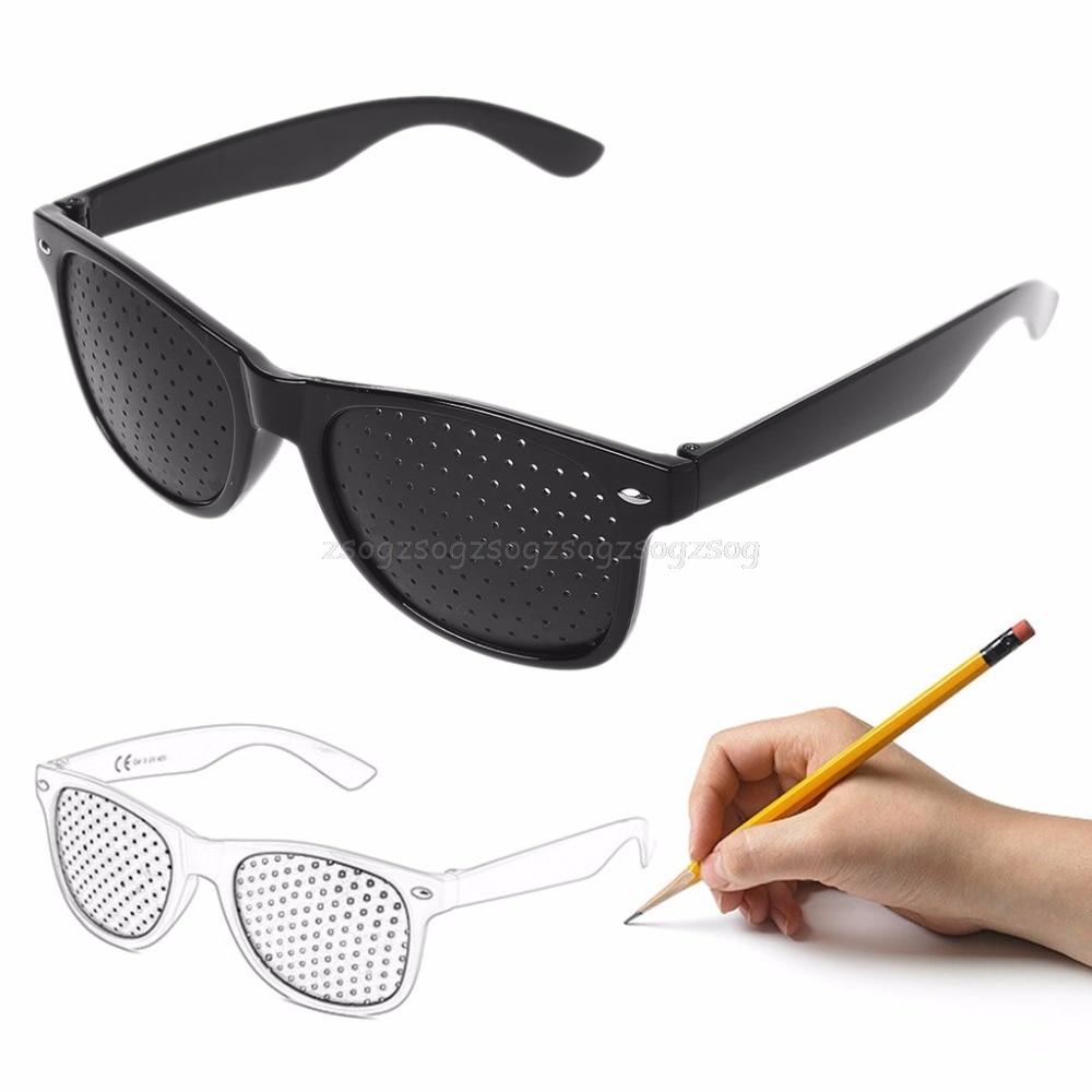 Anti-myopie Stiftlochbrille Pin Loch Sonnenbrille Augen-übungs-sehvermögen Verbessern Naturheilkunde Vision Care Brillen Bekleidung Zubehör Damenbrillen