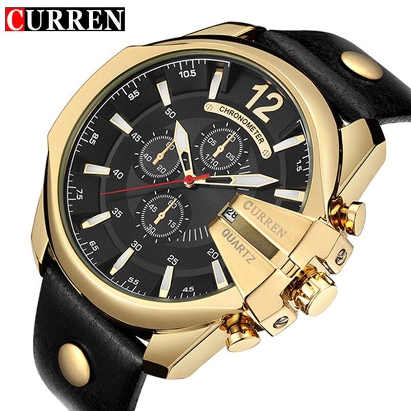 CURREN Golden Men Watches Top Luxury Popular Brand Watch Man Quartz Watches Gold Clock Men Wrist Watch Relogio Masculino 8176
