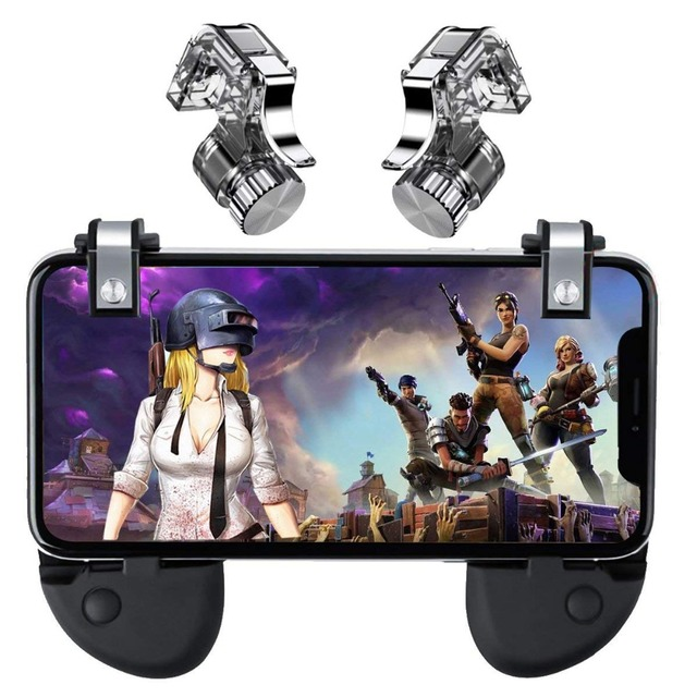 US $8 12 39% OFF|PUBG Mobile Trigger Control Cell Phone Controller Fire  L1R1 Gaming Shooter for iphone Android Joystick-in Mobile Phone Keypads  from