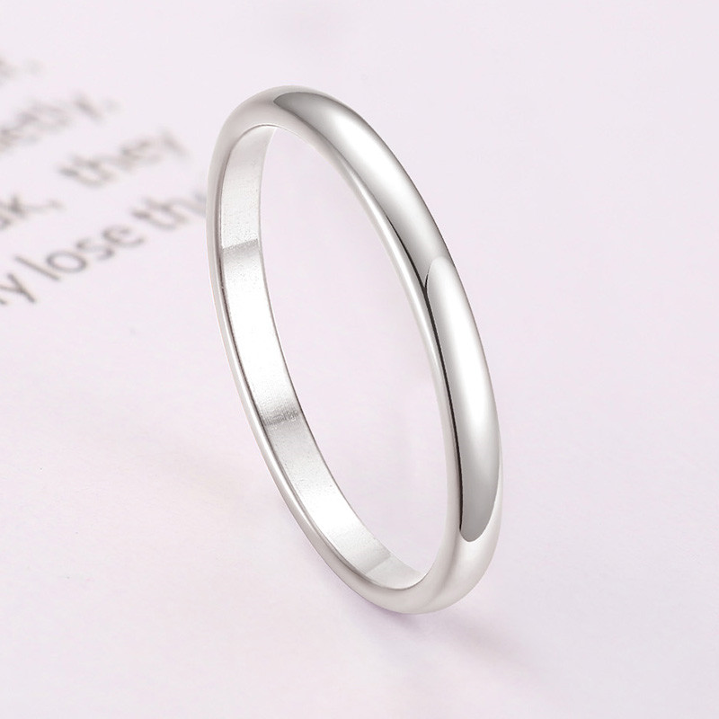ZORCVENS 2020 New Engagement Ring for Women Simple 316L Stainless Steel Silver Gold Color Finger Girl Gift 4
