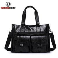 FEIDIKA BOLO Designer Handbags High Quality Tote Bag Men Messenger Bags Business Man Genuine Leather Bags
