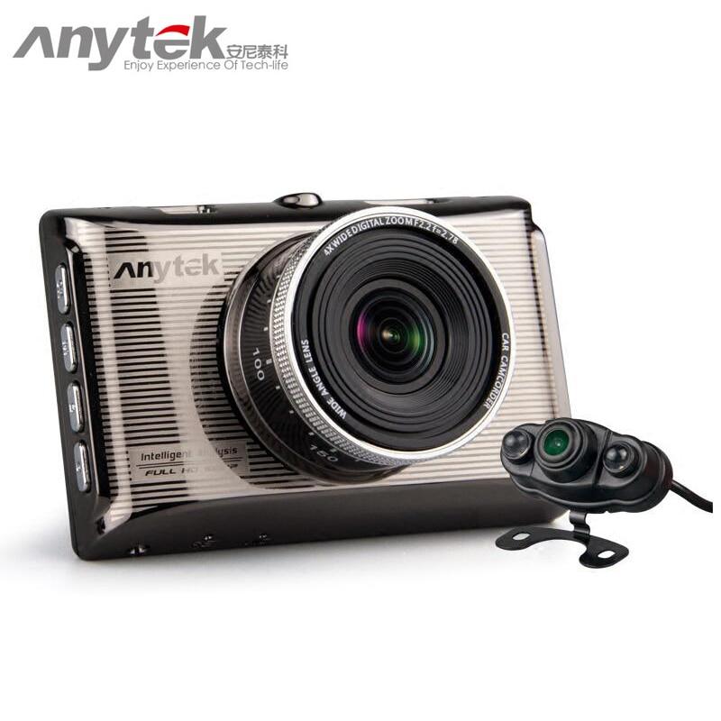 2017 Original Anytek X6 Car DVR Novatek 96650 1080P Full HD Car Camera Dash Cam Video Recorder Registrator Registrar Dual Lens junsun wifi car dvr camera video recorder registrator novatek 96655 imx 322 full hd 1080p dash cam for volkswagen golf 7 2015
