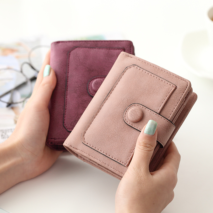 OTHERCHIC Nubuck Leather Women Short Wallets Ladies Small Wallet Zipper  Coin Purse Female Credit Card Wallet Purses Bag 6N12 35-in Wallets from  Luggage ... bb5086656fc
