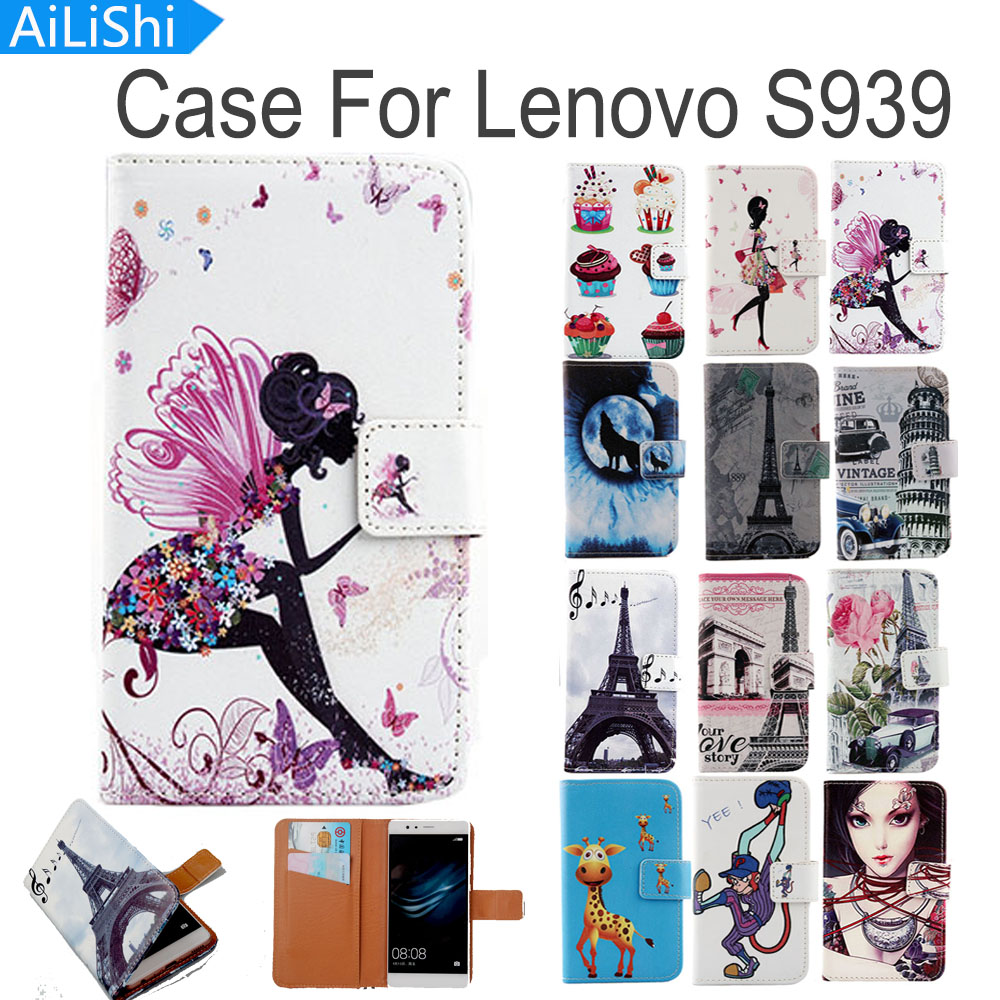 AiLiShi Flip PU Leather <font><b>Case</b></font> <font><b>For</b></font> <font><b>Lenovo</b></font> <font><b>S939</b></font> <font><b>Case</b></font> Hot High Quality Cartoon Painted Protective Cover Skin With Card Slot image