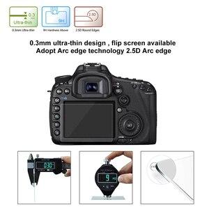 Image 5 - PULUZ מסך מגן עבור Canon 5D סימן III IV EOS 6D 7D Mark II 100D/M3 EOS 200D 650D 1200D SX600 G7X מזג זכוכית LCD סרט