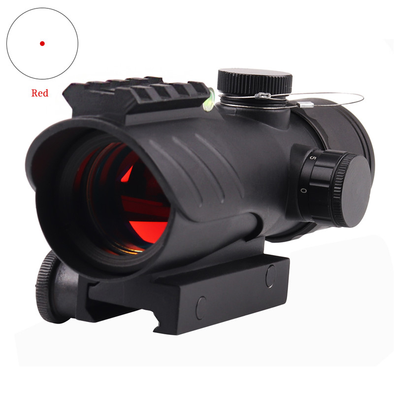 Ledarnell Hunting 1X30 Tactical Reflex Red Dot Optical Sight Scope Adjustable Rifle Gun Scope Fit 22mm Rail With Bubble Level