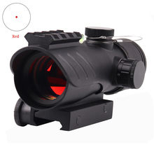 Ledarnell Hunting 1X30 Tactical Reflex Red Dot Optical Sight Scope Adjustable Rifle Gun Scope Fit 22mm Rail With Bubble Level fire wolf free shipping multi reticle red dot sight optical scope 1x30 gun scope for hunting free shipping