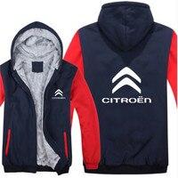 Citroen Hoodies Mans Jacket Winter High Quality Men Casual Wool Liner Fleece Citroen Logo Sweatshirts Hoody