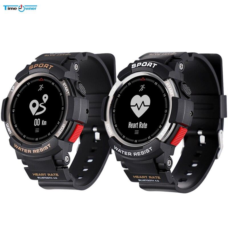 時間所有者 F6 スマートウォッチブルートゥースフィットネストラッカーリストバンドスマートスポーツモニター g センサー GPS IP68 防水スマート腕時計  グループ上の 家電製品 からの スマートウォッチ の中 1