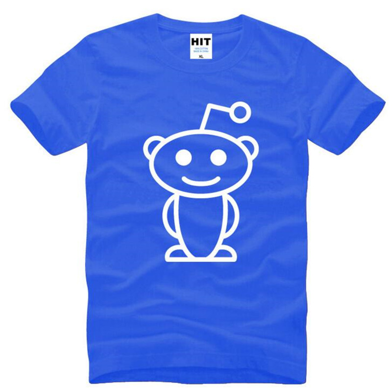 Cute Reddit Aliens Printed T Shirt Men Summer Style Short Sleeve O-Neck Cotton Men's T Shirt Fashion Top Tee Camisetas Hombre image