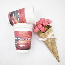 6pcs/lot Lightning Mcqueen Party Supplies Paper Cup Cartoon Birthday Decoration Baby Shower Theme Boys party