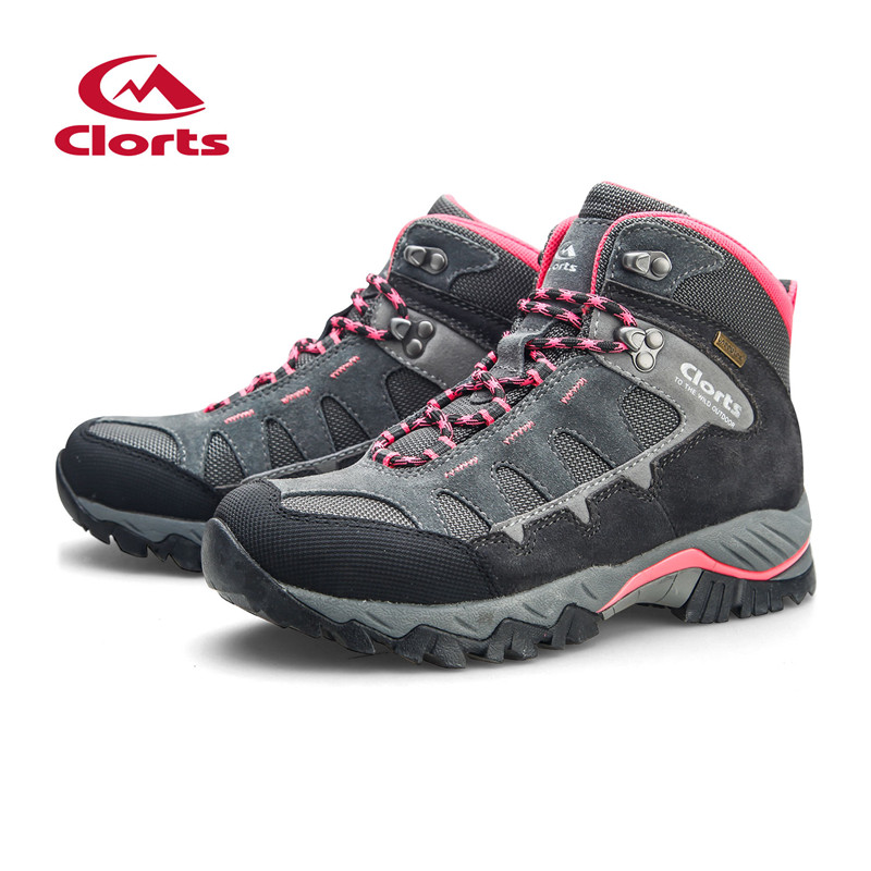 2f3b63bc45f US $60.24 26% OFF|Clorts Women Hiking Shoes Waterproof Suede Leather  Trekking Outdoor Boots Camping Climbing Outdoor Sneakers HK823E-in Hiking  Shoes ...