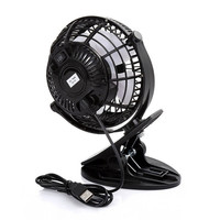 Portable 2 Gear Rocker Switch Mini Desk Fan Clip-on Quiet Table Fan USB Powered Cooling Flexible Computer Fan for PC Laptop 3