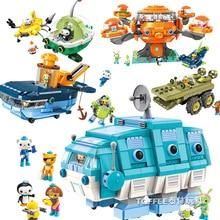 Cartoon Octonaut block Vegimals Barnacles Kwazii Professor Inkling peso Tweak Dashi figures octo-pod GUP submarine bricks toys