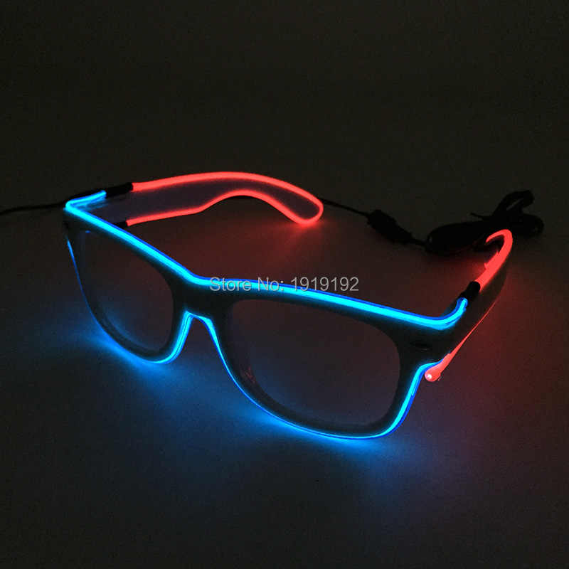 9141a3aad3 Hot Sales Flashing Double colors Glowing Glasses Powered By DC-3V EL Wire  Cold Light