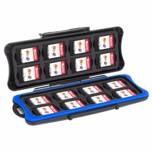 Waterproof Cartridges Game Card Storage Box with 16 Slots and Micro SD holders for Nintendo Nintend Switch NS